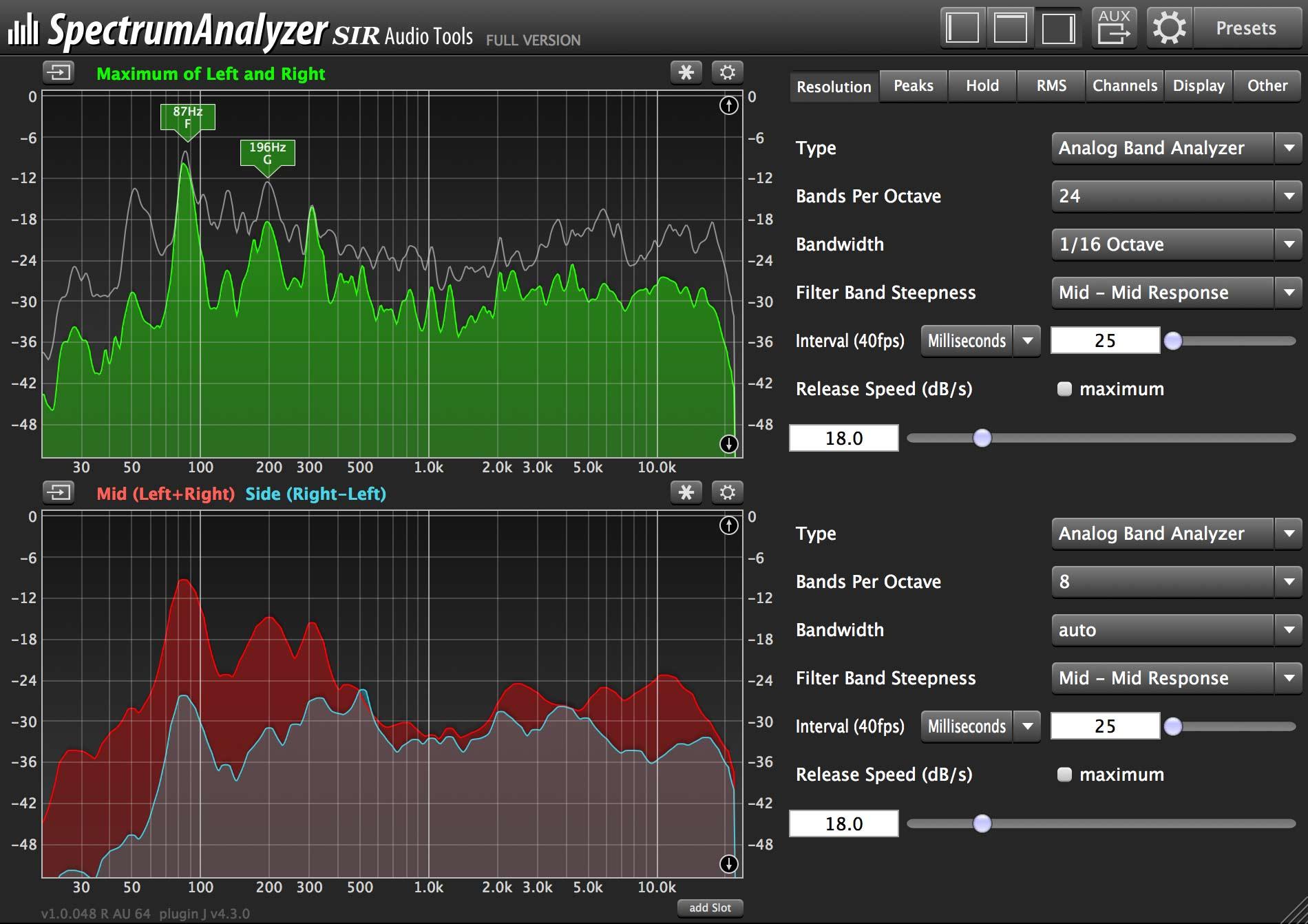 SpectrumAnalyzer | Details | SIR Audio Tools